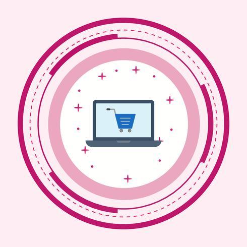 Design de ícone de compras on-line