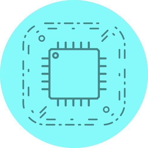 Projeto do ícone do processador vetor
