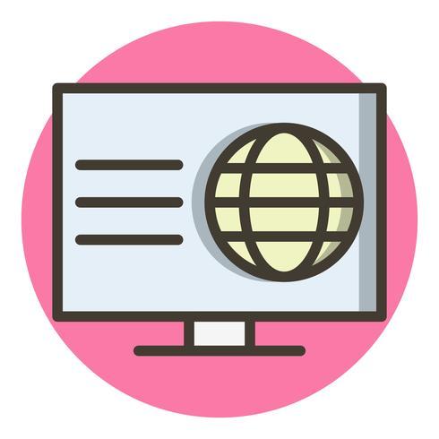 Disegno dell'icona di pagina Web