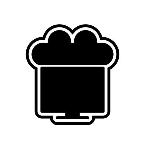 Ansluten till Cloud Icon Design