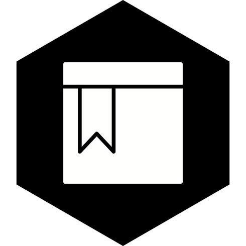 design de ícone de página marcada