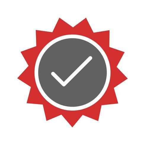 Conception d'icône de timbre valide vecteur