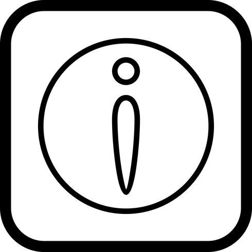 Design de ícone de informações
