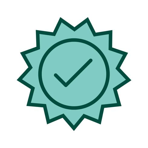 Valid Stamp Icon Design vector