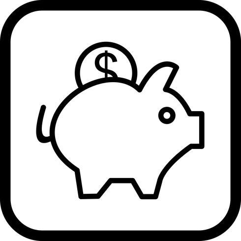 Piggy Bank Icon Design vector