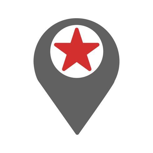 Starred Location Icon Design vector