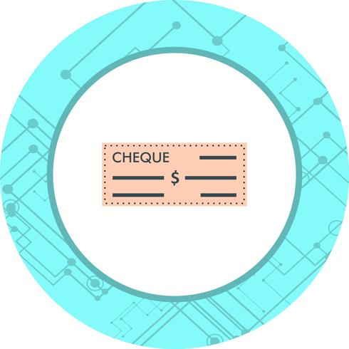 Cheque Icon Design vector