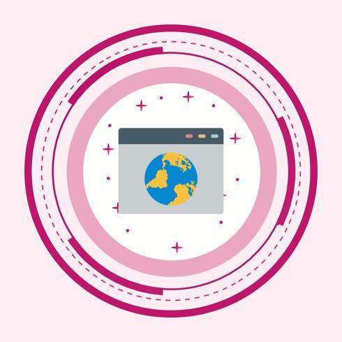 Browser Icon Design vector