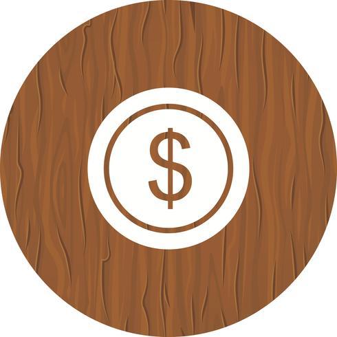 dollar mynt ikon design