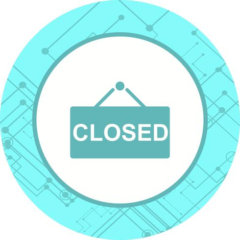 Closed Sign Icon Design vector