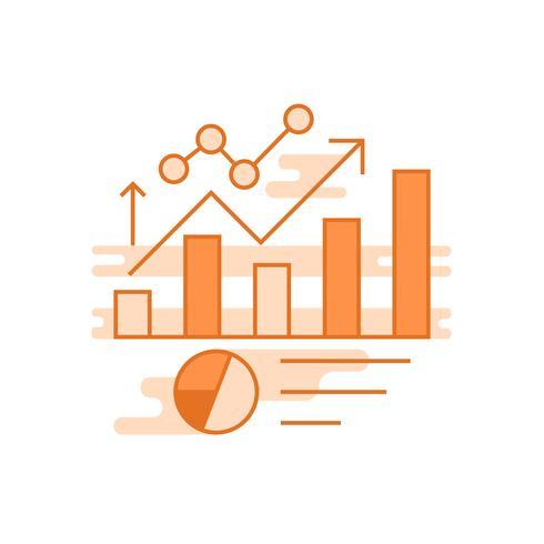 Illustration de l'amélioration. Ligne plate concept conçu avec des couleurs orange, pour les applications mobiles ou autres fins vecteur