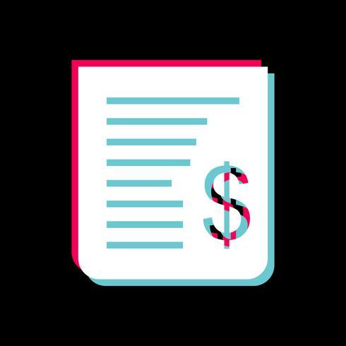 Design de ícone de recibo