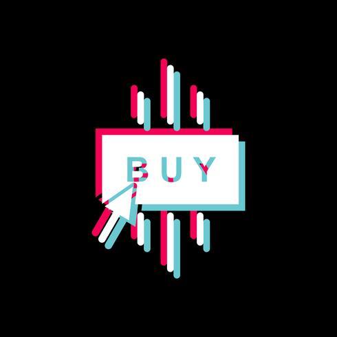 Köp ikondesign vektor