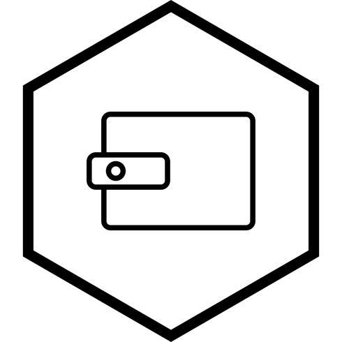 Brieftasche Icon Design vektor