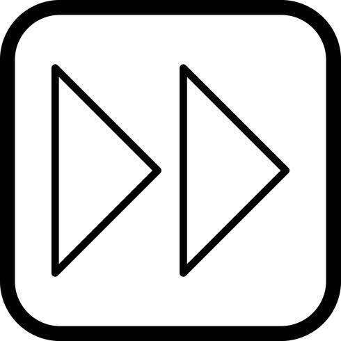 Forward Arrows Icon Design vector