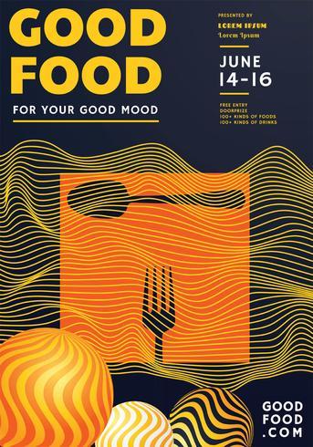 Lebensmittel Festival Poster Design