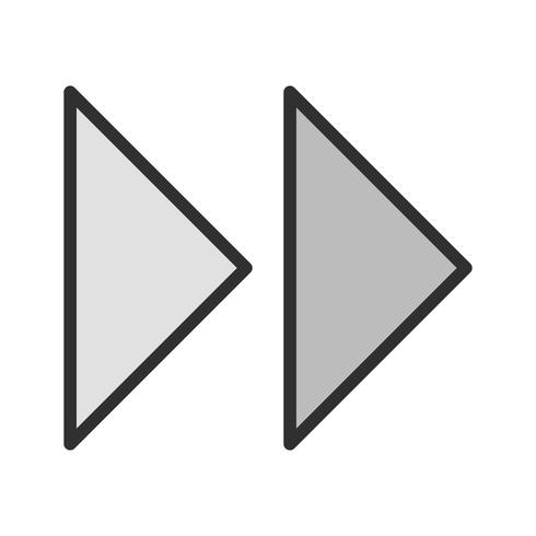 Forward Arrows Icon Design vector