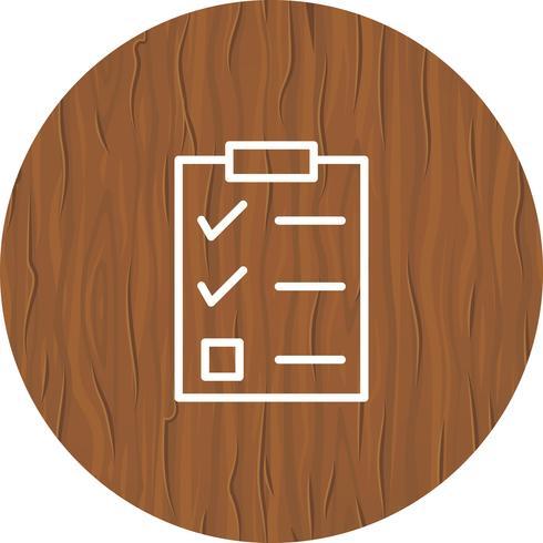 Checklist pictogram ontwerp