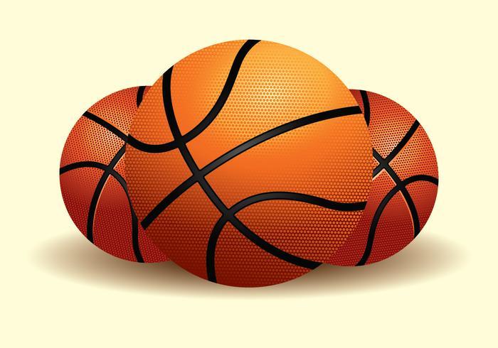Ilustración realista de baloncesto