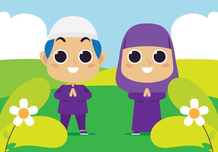 Muslimska barn på parken