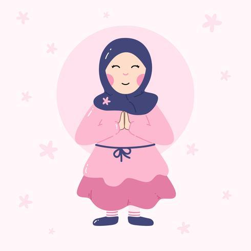 Moslimmeisje Vector