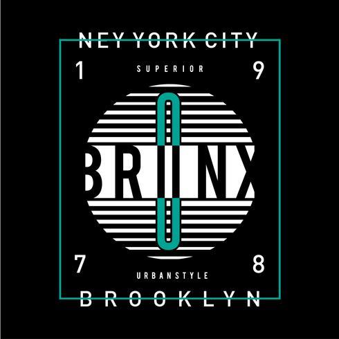 cidade de nova york estilo urbano camiseta design tipografia gráfica