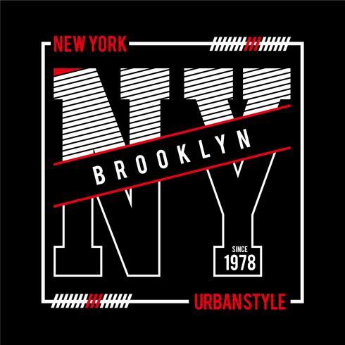 T-stuk, element, vintage, New York typografie vectorafbeeldingen