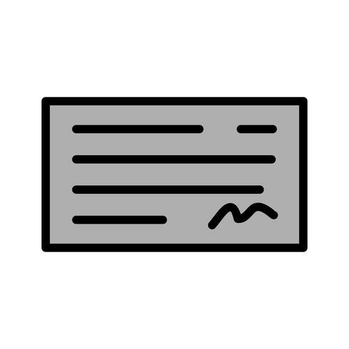 Cheque Icon Design