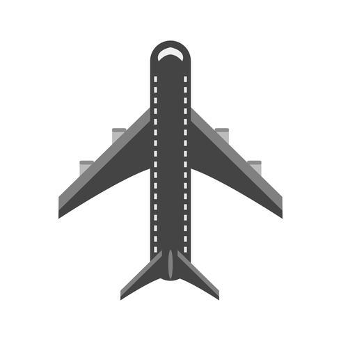 Flygplansikondesign vektor