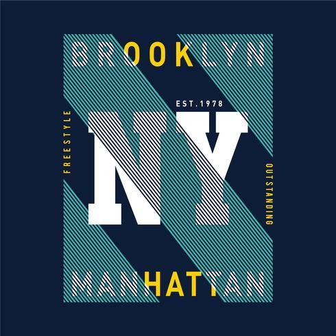 Ilustración vectorial sobre el tema en Nueva York, Brooklyn