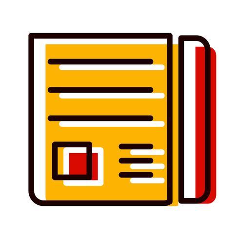 News Paper Icon Design vector
