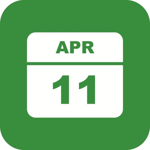 April 11th Date on a Single Day Calendar
