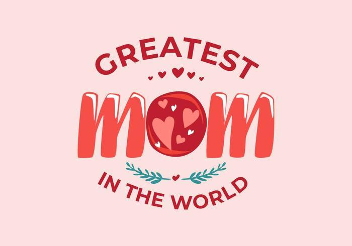 Mom Typography Vector Illustration