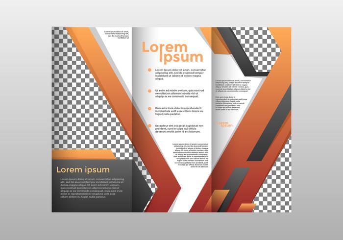 Orange Brochure Template Vector