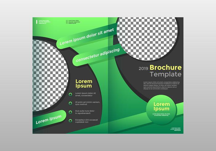 Half-Fold Brochure Template Vector
