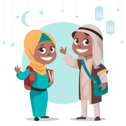 Muslim Children  vector