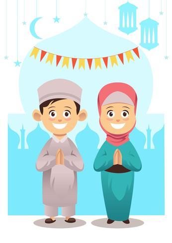 Crianças muçulmanas
