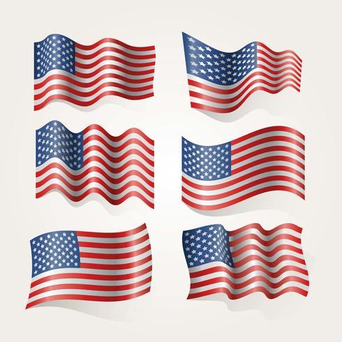 Vetor de bandeira americana