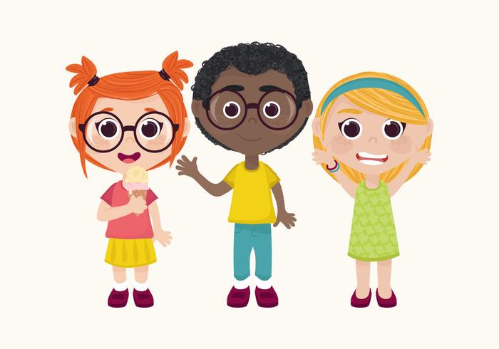 Vector Children Character Set