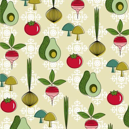 padrão vegetal vintage