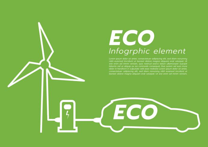 ECO coche concept.vector