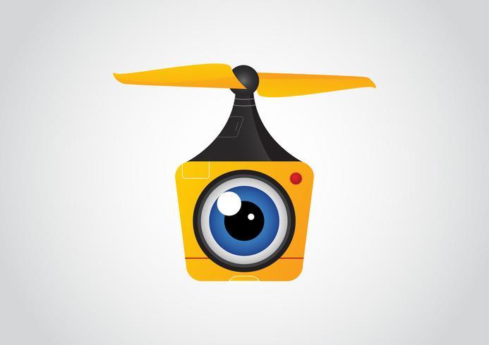 Drone aéreo uadcopter con cámara para fotografía o video vigilancia.