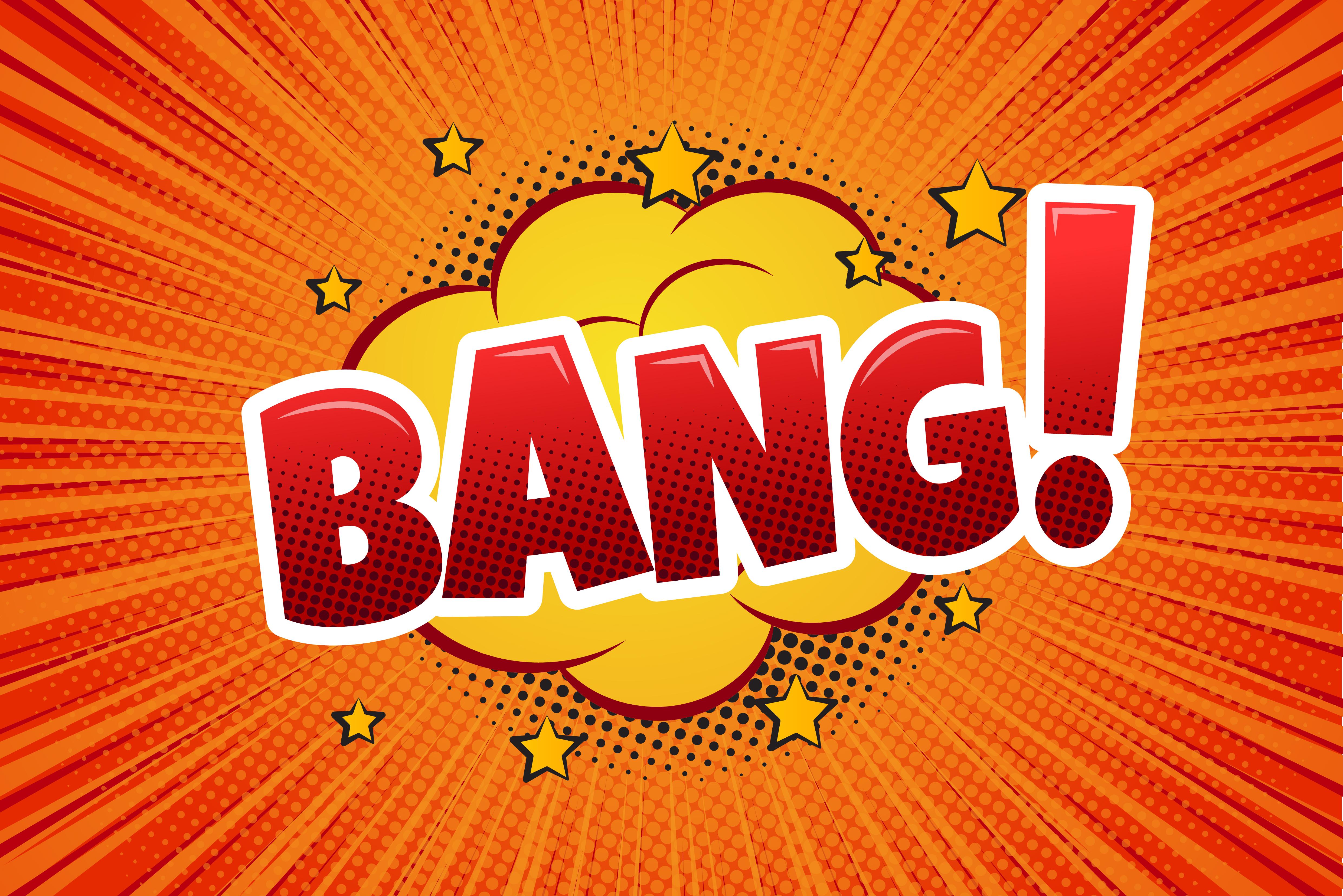 Bang! Comic Speech Bubble, Cartoon. - Vector - Download