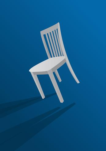 chair on blue background