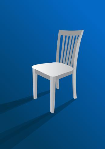 cadeira em fundo azul