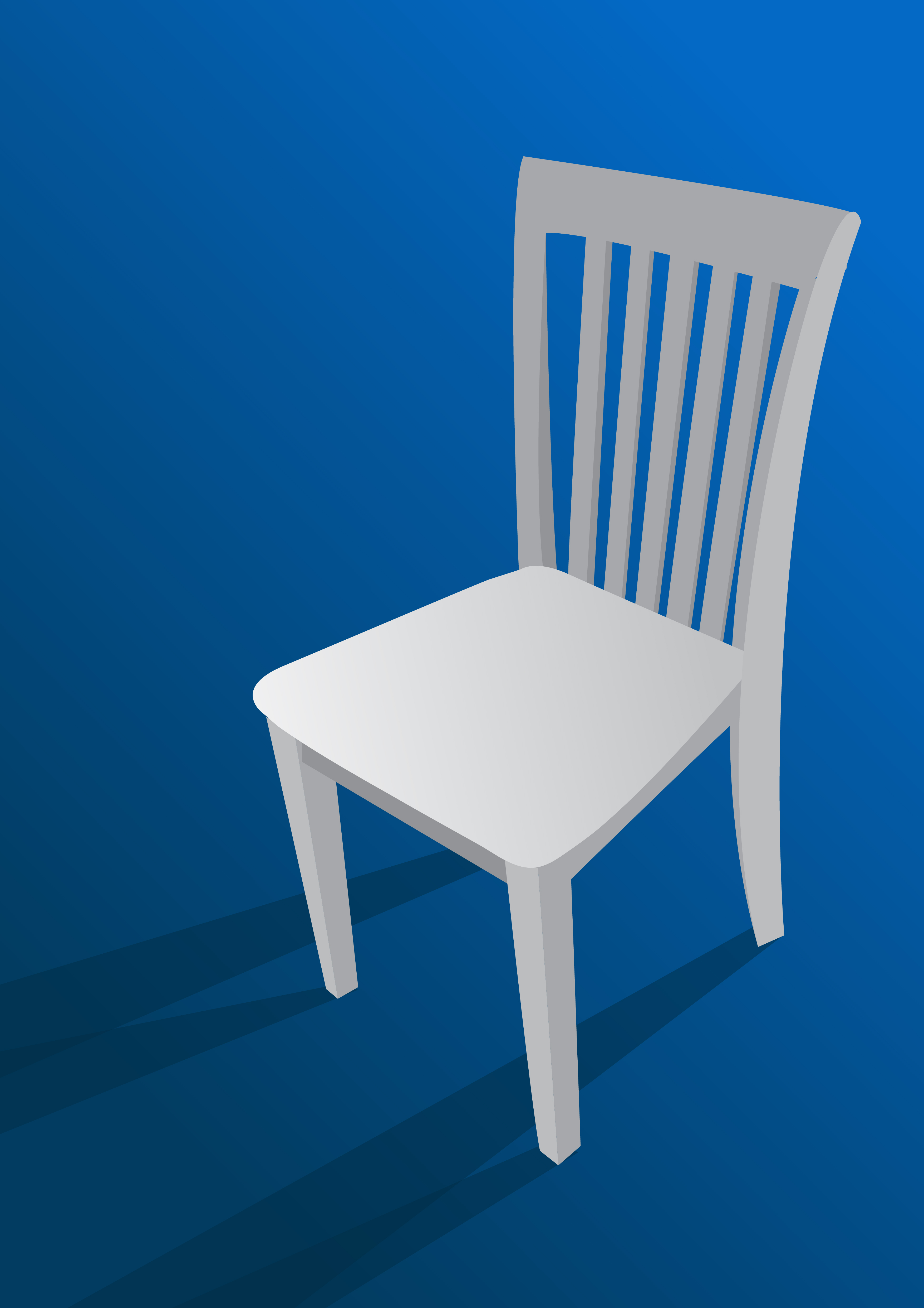 Chair On Blue Background Download Free Vector Art Stock