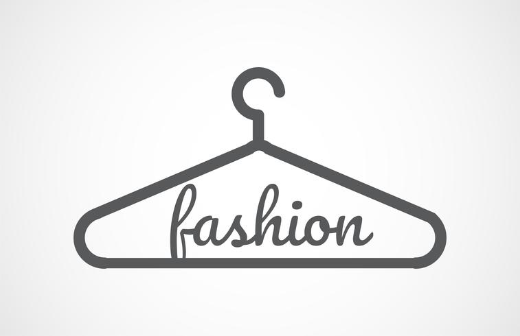 Vector Gray Hangers Icon, fashion
