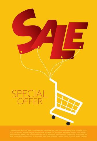 Shopping cart,sale, vector illustration