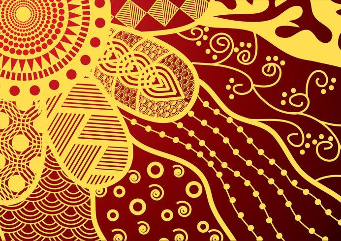 padrão floral doodle de vetor sem costura