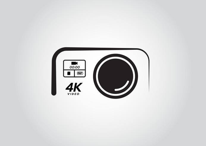 Action-Kamera-Logo. Kamera für aktiven Sport